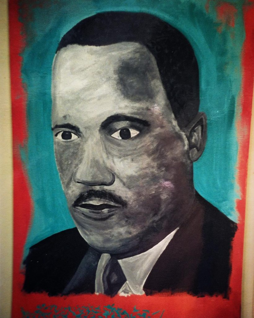 Martin Luther King Jr Acrylic canvas