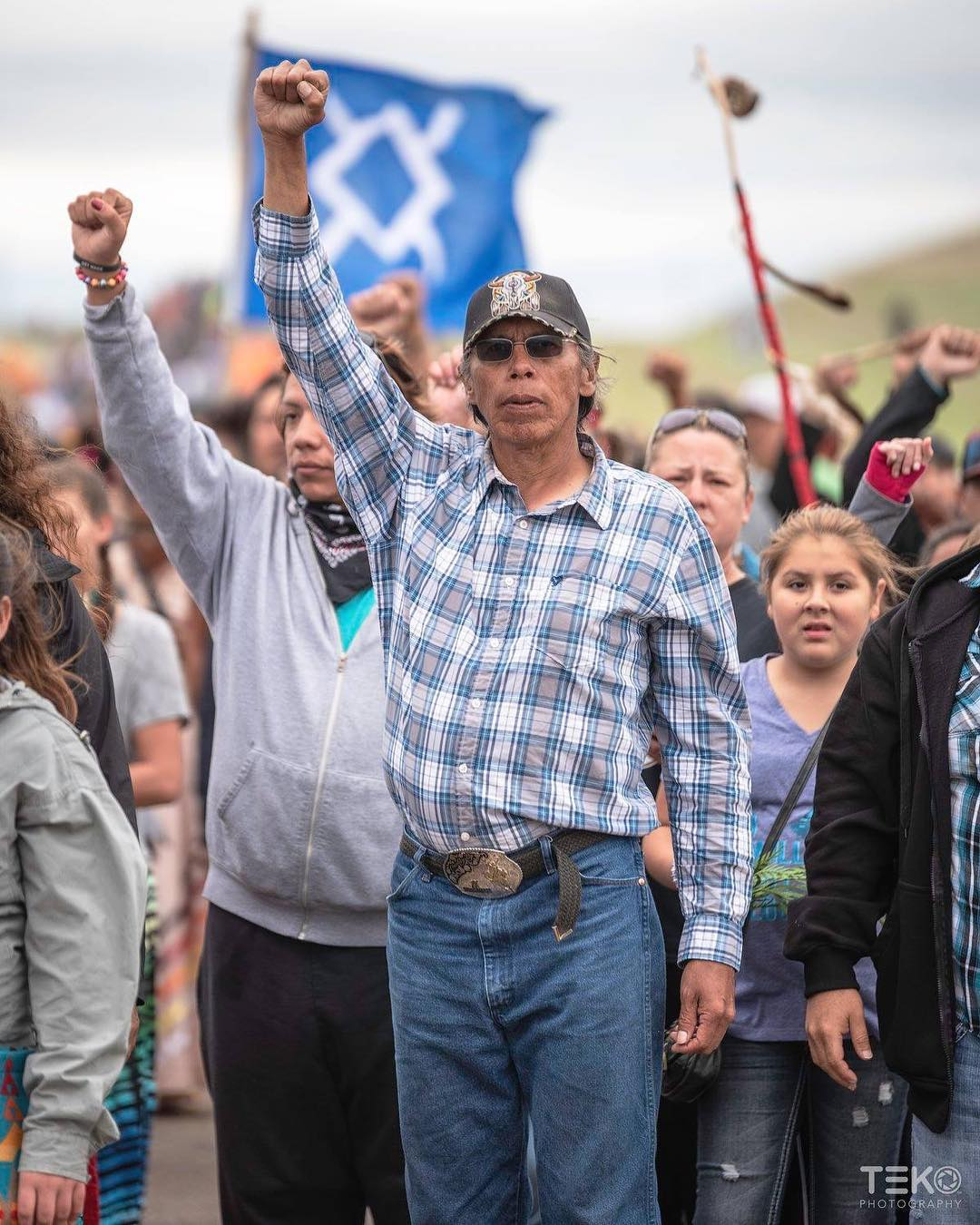"""""""One of my favorite images I took at Standing Rock 2016"""" - Teko Photography"""
