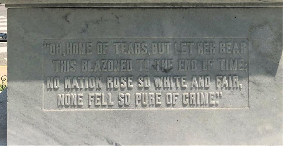 Confederate Inscription